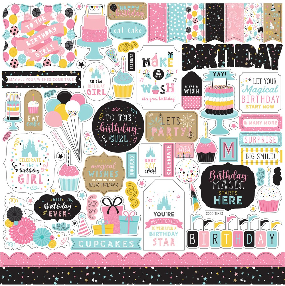 Magical Birthday Girl Element Sticker