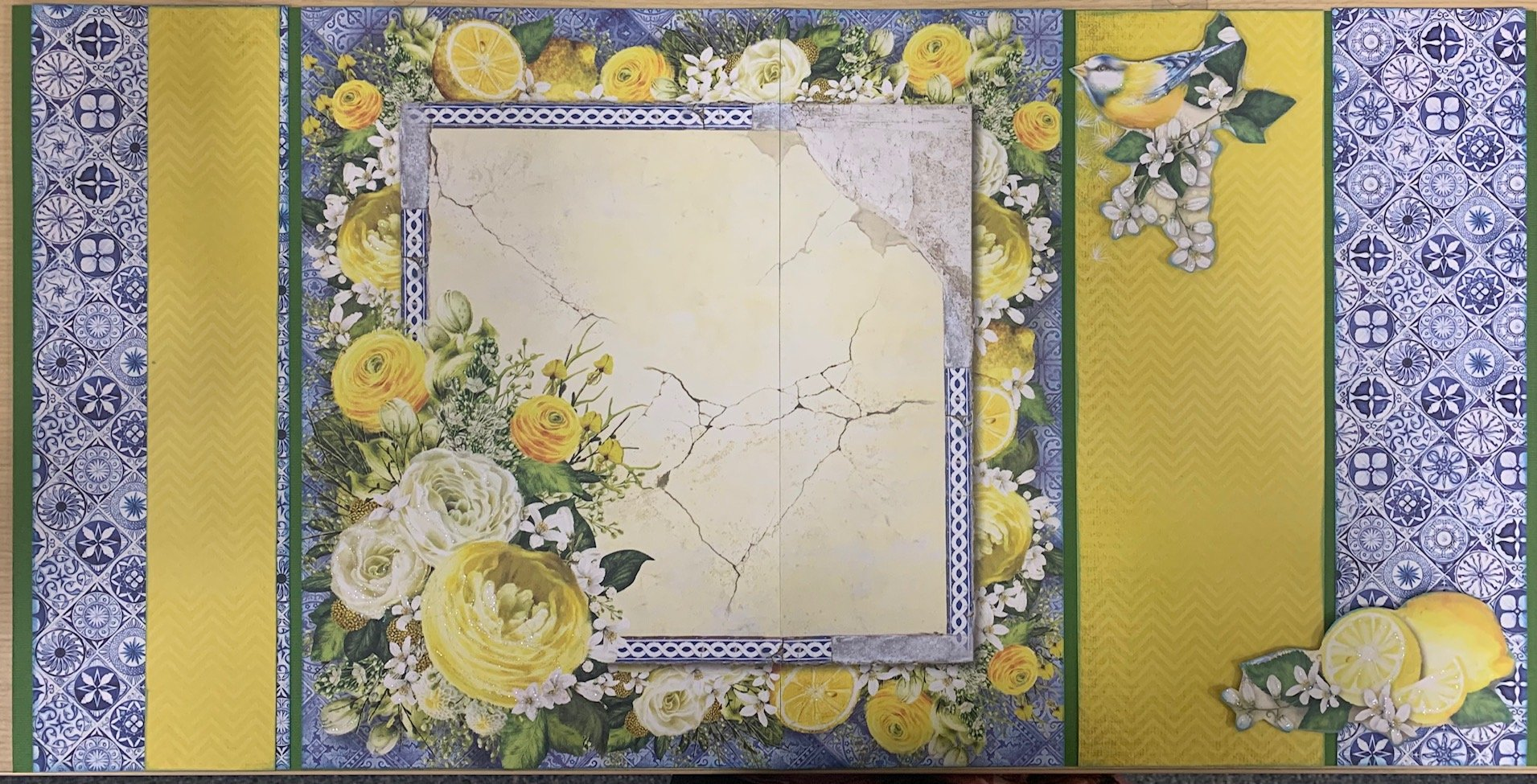 Roses in Bloom Layout Kit
