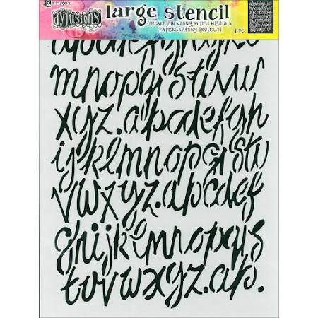 Dyan Stencil Large Modern Script