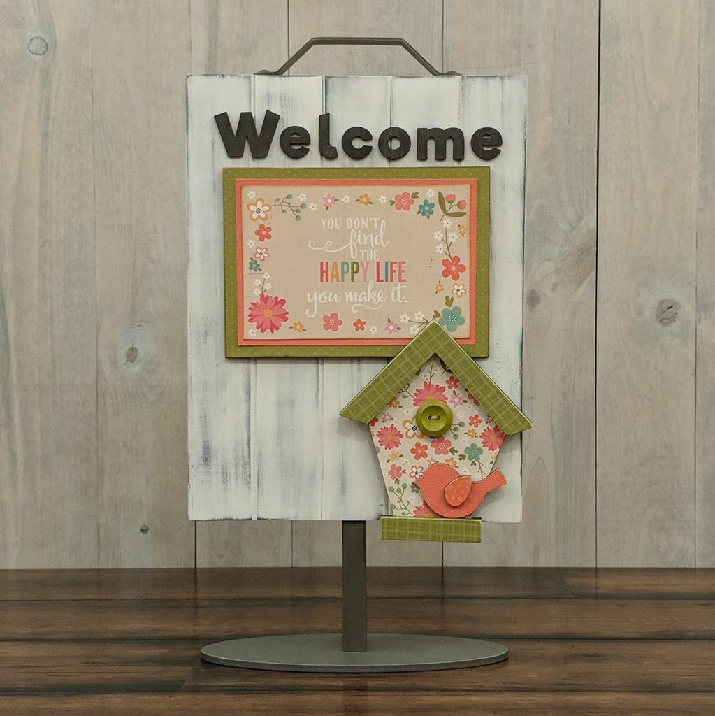 Foundations Decor Welcome Sign Kits-May - Birdhouse