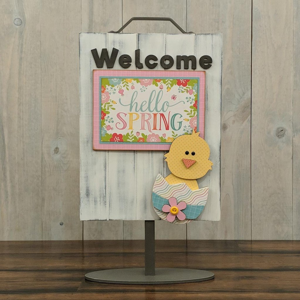 Foundations Decor Welcome Sign Kits-April - Chick