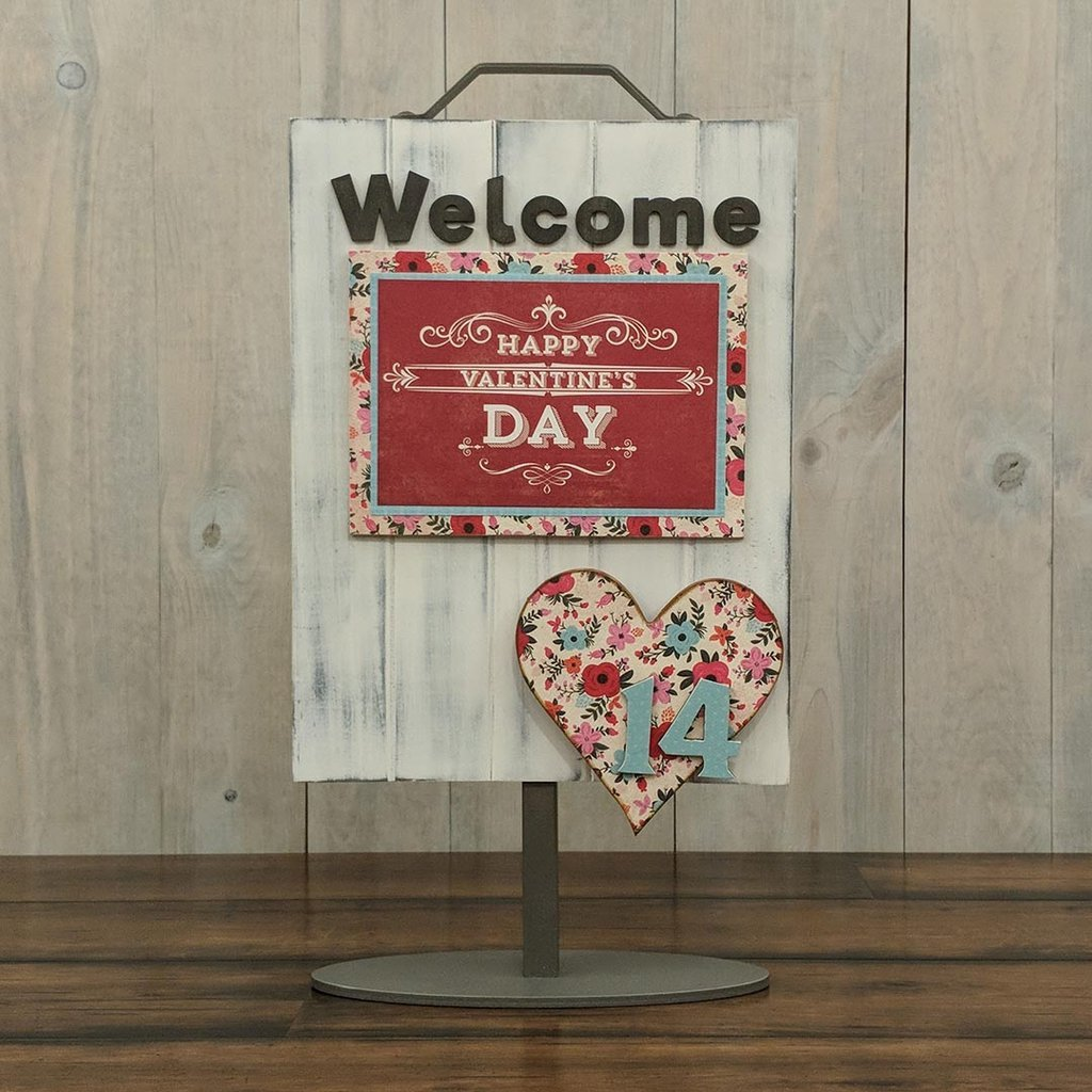Foundations Decor Welcome Sign Kits-February - Heart