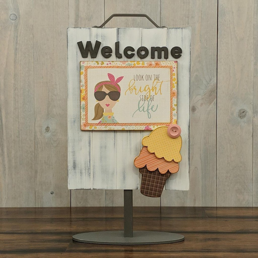 Foundations Decor Welcome Sign Kits-June - Ice Cream