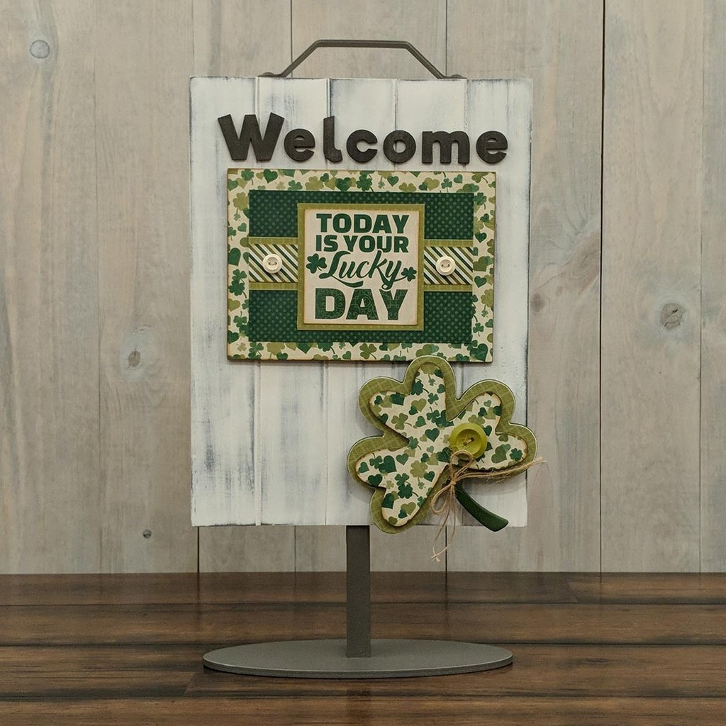Foundations Decor Welcome Sign Kits-March - Shamrock