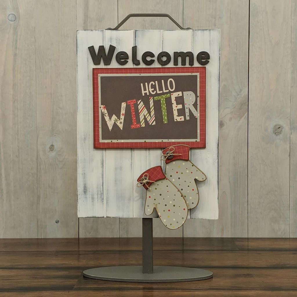 Foundations Decor Welcome Sign Kits-January - Mittens