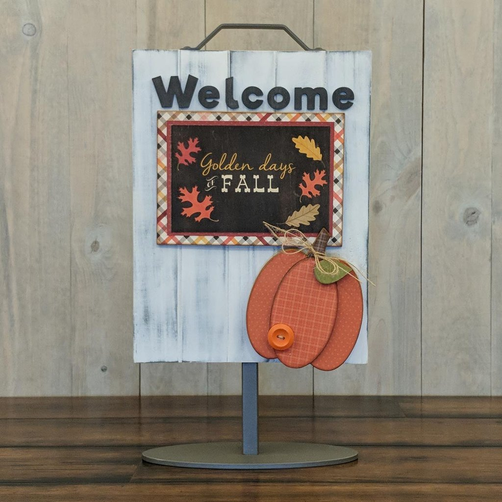 Foundations Decor Welcome Sign Kits-November - Pumpkin