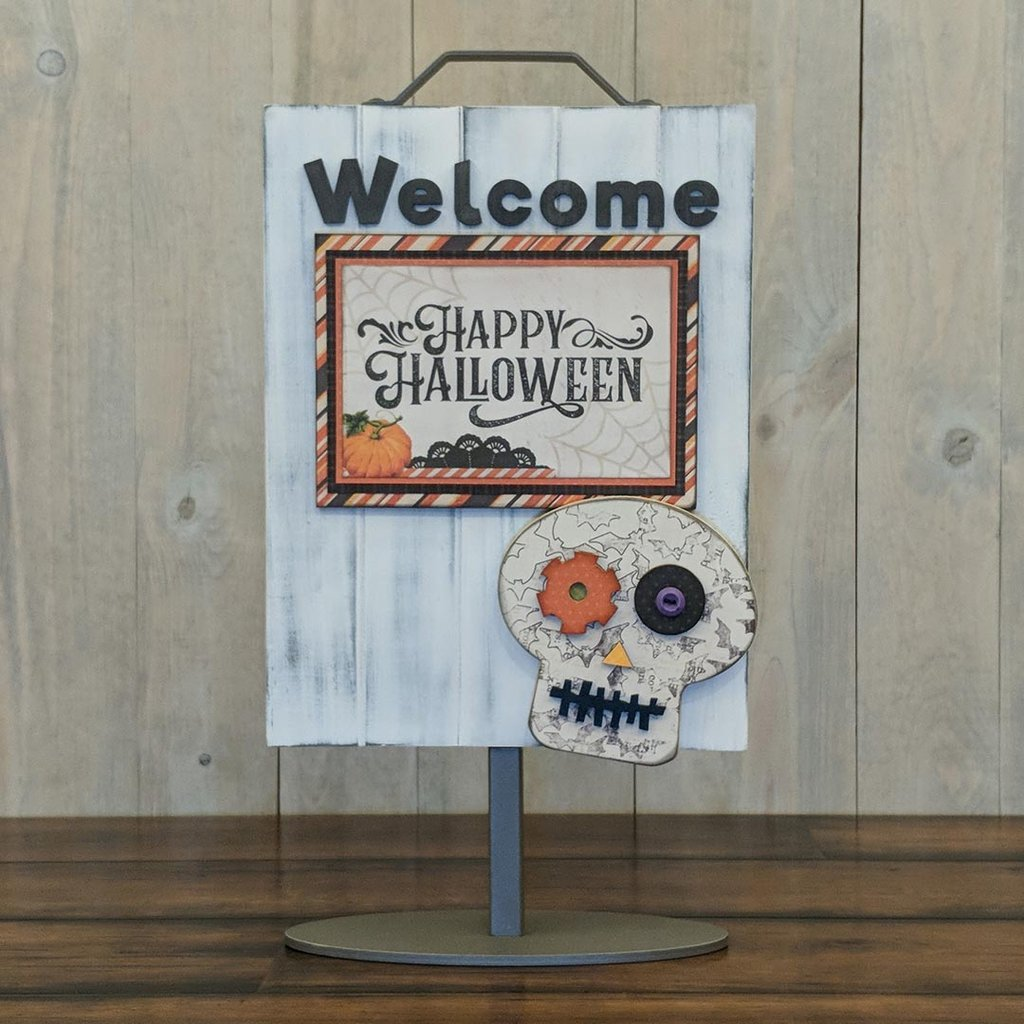 Foundations Decor Welcome Sign Kits-October - Skull