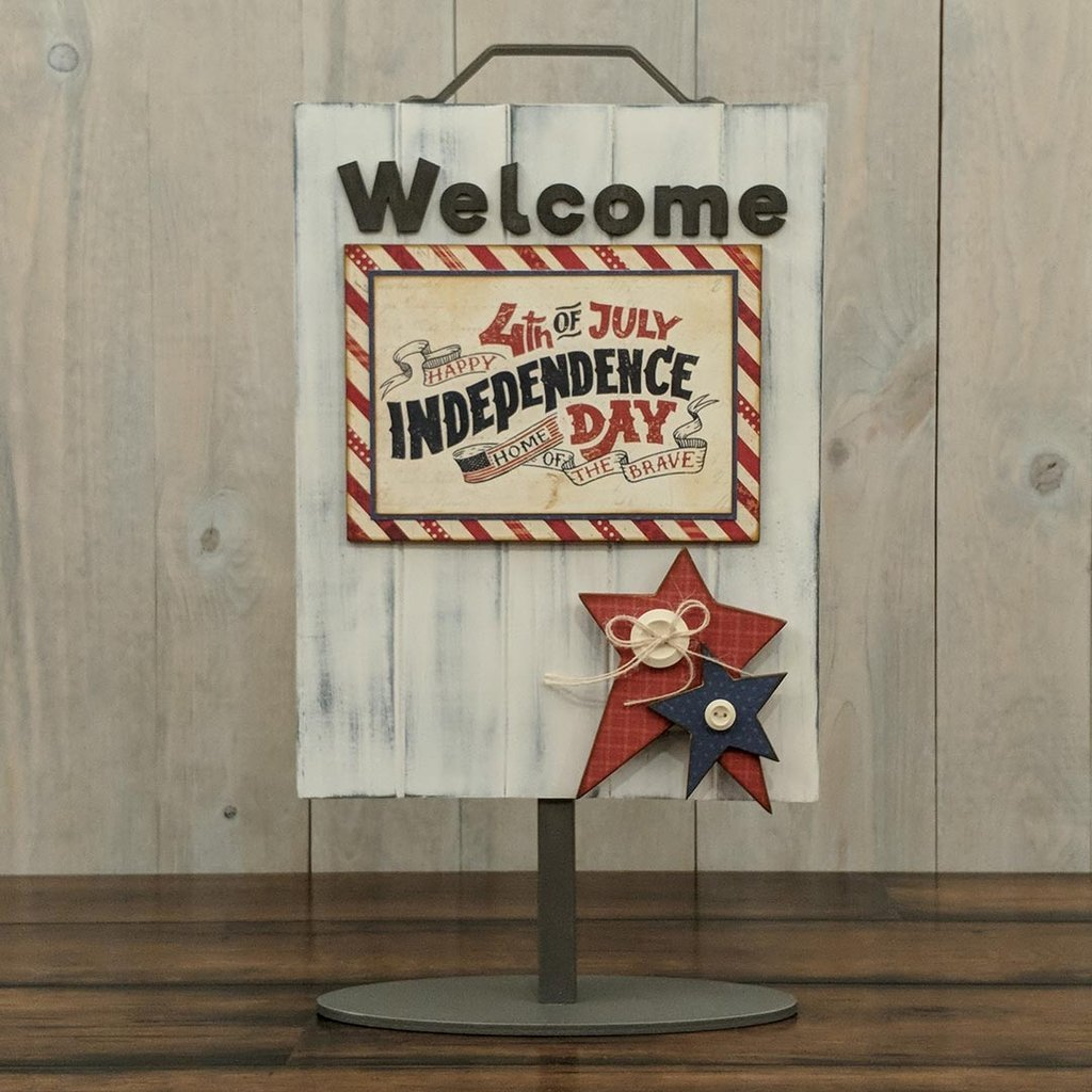 Foundations Decor Welcome Sign Kits-July - Stars