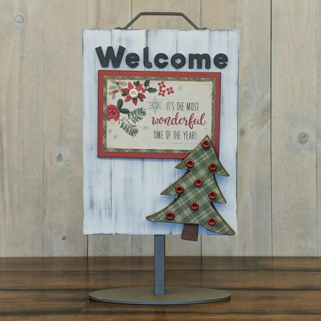 Foundations Decor Welcome Sign Kits-December - Pine Tree