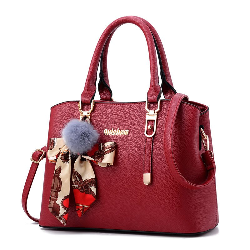 03- PU Leather Handbag, frosted,