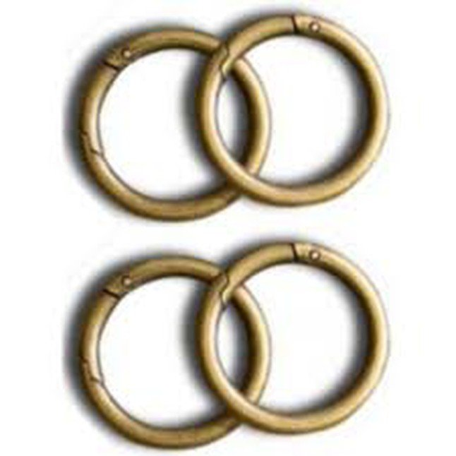 16- Antique carabiner rounds LUXE (set of 4)