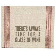 03-  Tea Towel - Glass of wine
