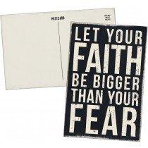 03- Wooden Post card - Faith