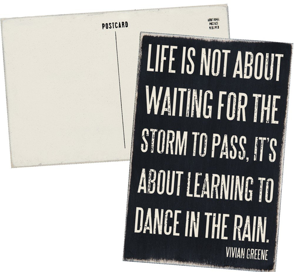 03- Wooden post card - Life is