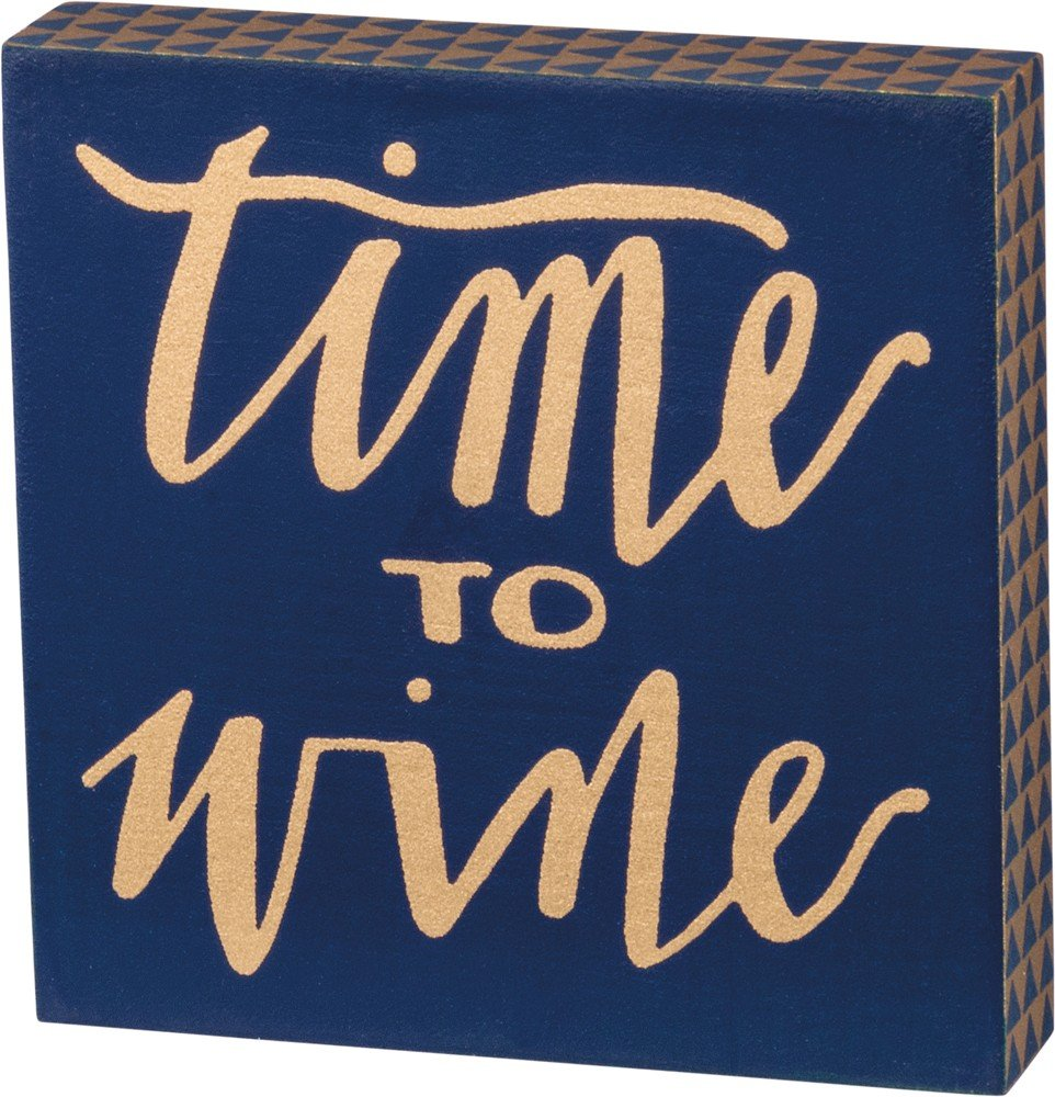 03- Magnet Block sign - time to wine