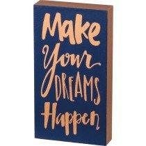 03- Magnet - Block sign - Dreams happen