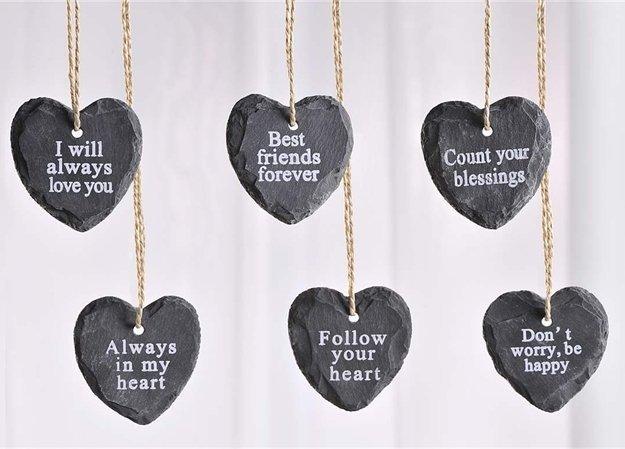 13 - Hanging heart w/sayings