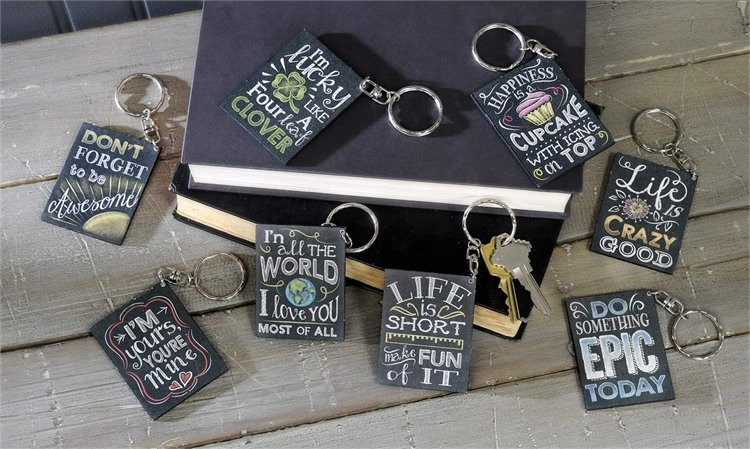 13- Keychain Chalk Talk Sayings