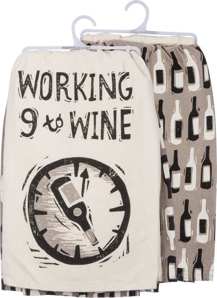 03- tea towel - working 9 to wine