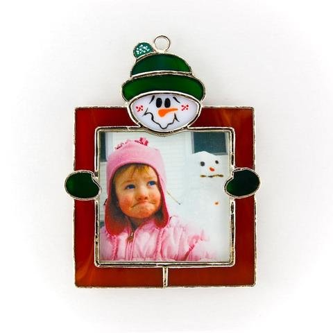 03- Stained glass - Christmas frame