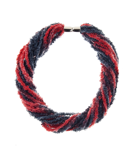 23-  Wild About You - Stringy Magnetic Scarf - red/black