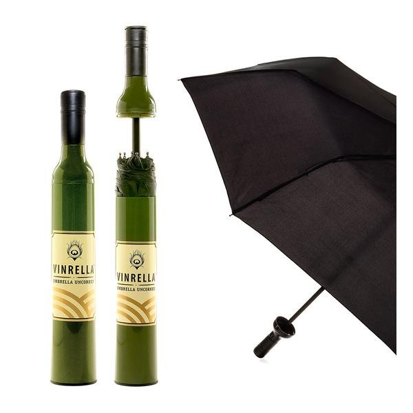 03- vinrella - Green with faux wine label