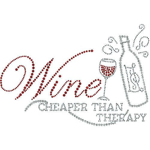 03- T-shirt - Wine cheaper than therapy
