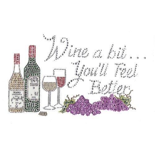 14- T-shirt - wine a bit
