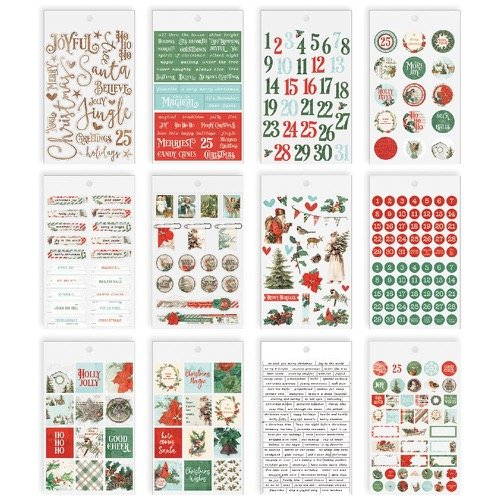 COUNTRY CHRISTMAS STICKER TABLET