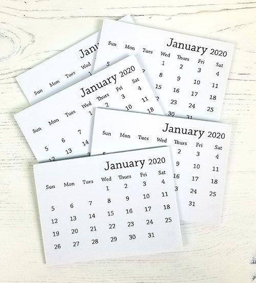 2020 Mini Tear Off Calendar 2020 MINI TEAR OFF CALENDAR   639302631508