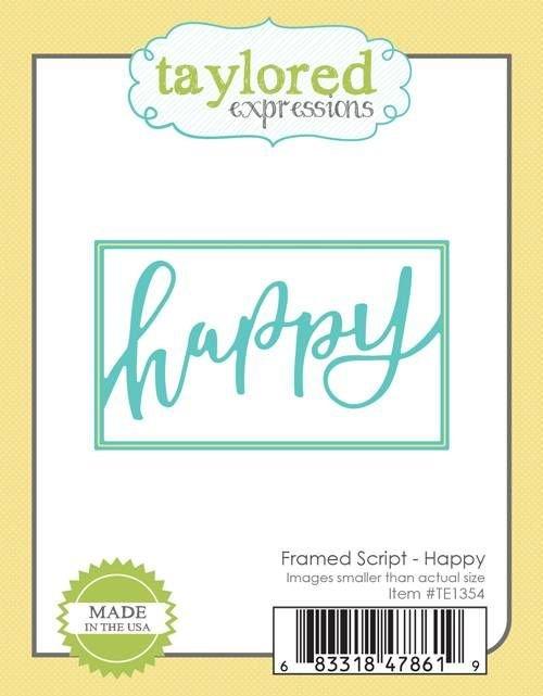 FRAMED SCRIPT - HAPPY