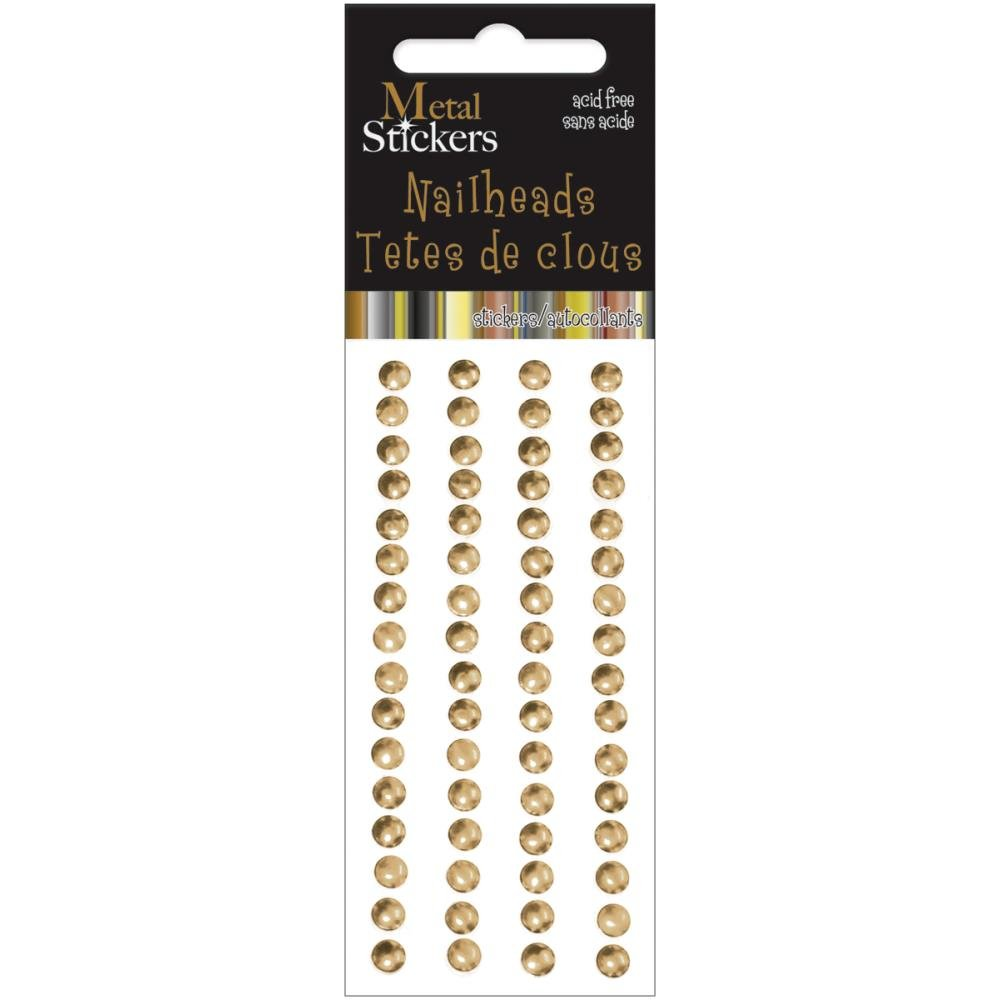 NAILHEADS - GOLD 5MM