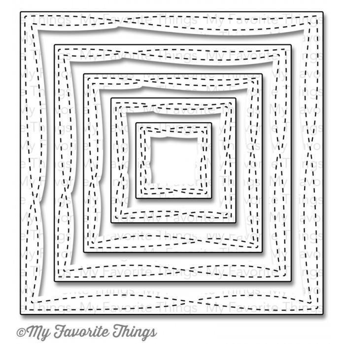 WONKY STITCHED SQUARES