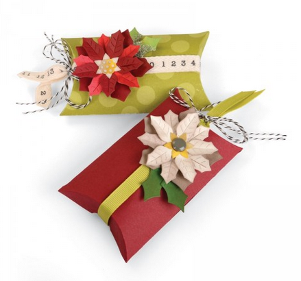 BOX, PILLOW & POINSETTIA