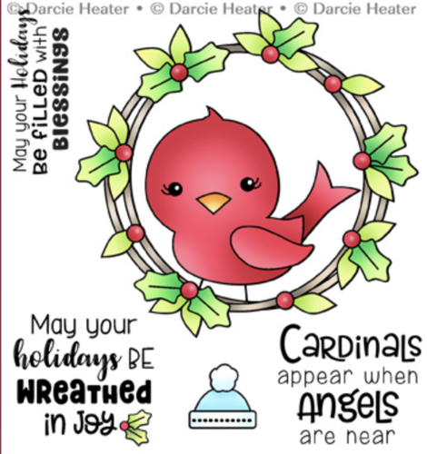 CARDINAL IN WREATH