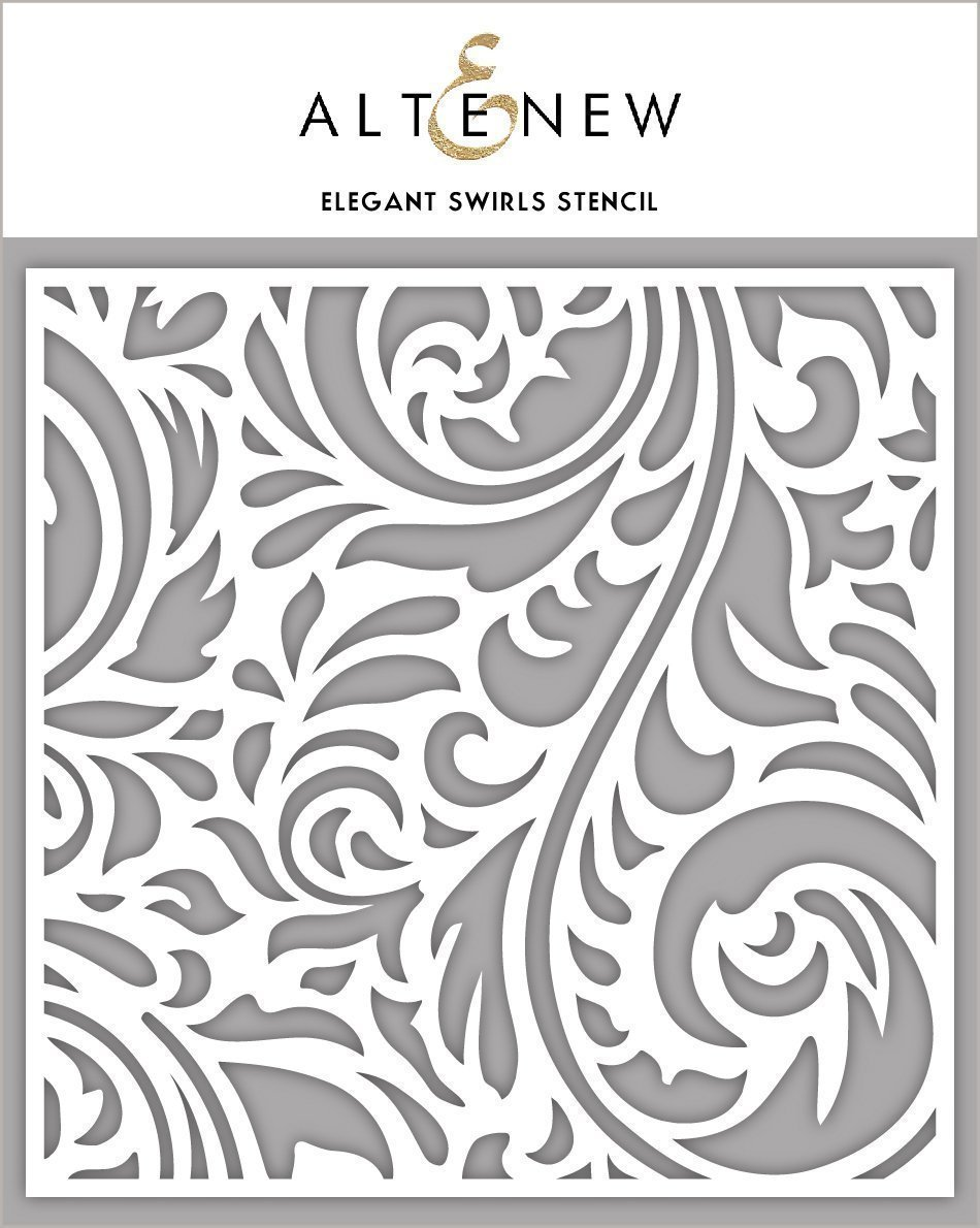 ELEGANT SWIRLS STENCIL