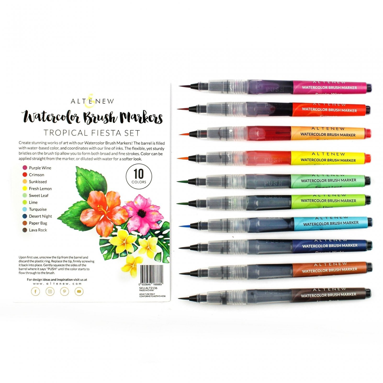 WATERCOLOR TROPICAL FIESTA SET