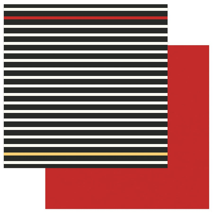 Black Stripe/Red