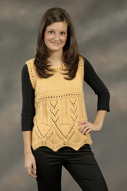 1846 Baby Alpaca Grande Sleeveless Lace Pullover