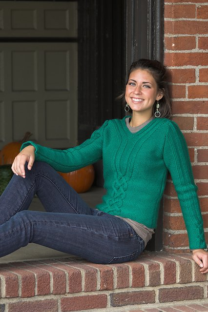1893 Galway Worsted Cabled Pullover
