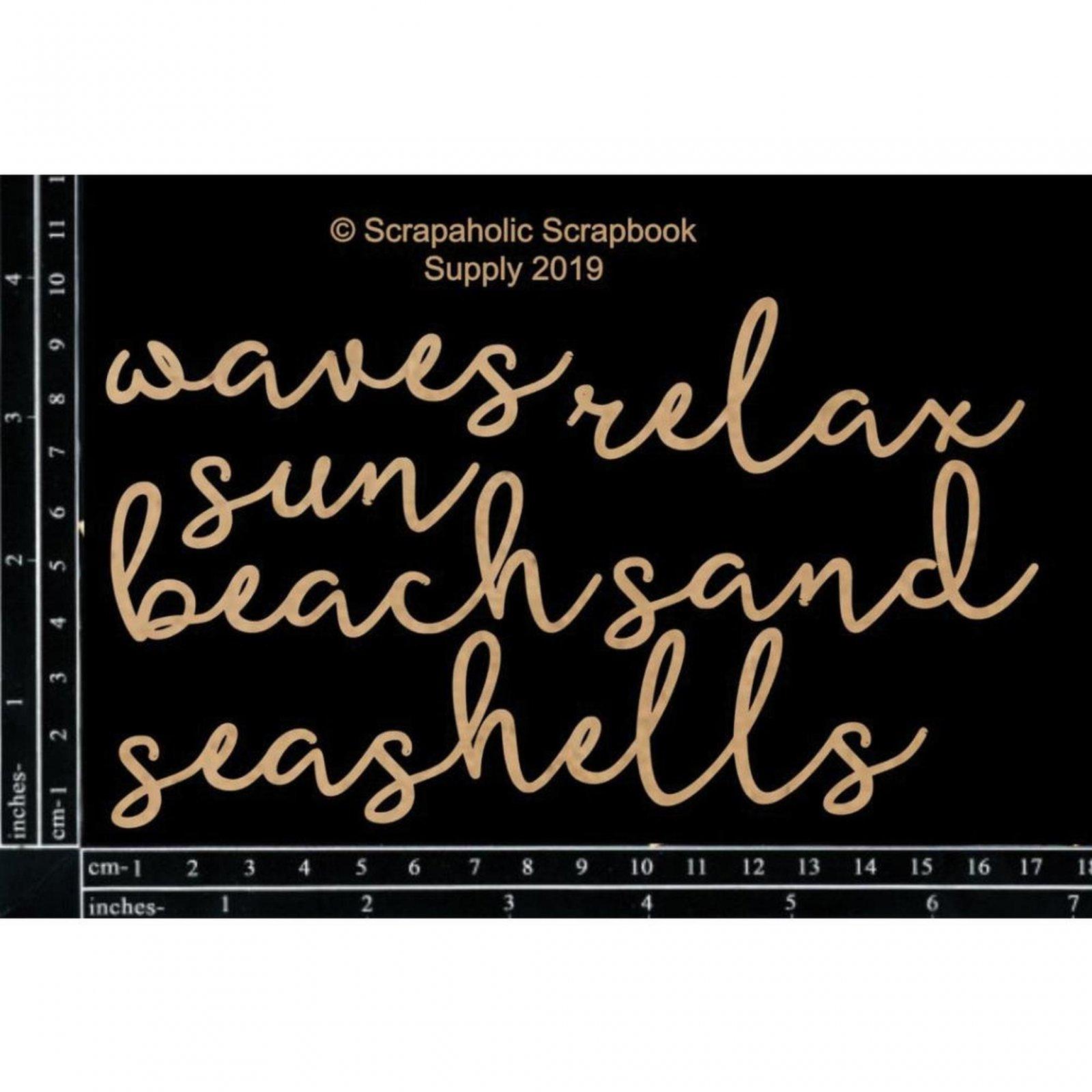 Embellies - Script Beach Words (SA)