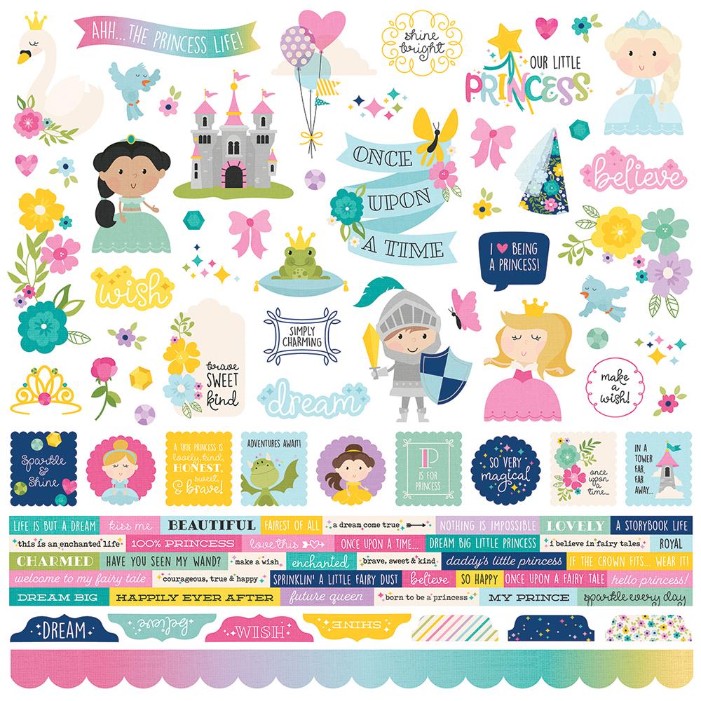 Stickers - Little Princess combo 12 x 12 (SS)