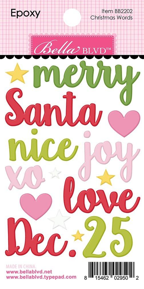 Embellishments - Santa Squad Epoxy Christmas Words (BLVD)