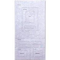 Bargain - Crystalline Textured  Acrylic 6x12 Sheets Fan Design (AI)