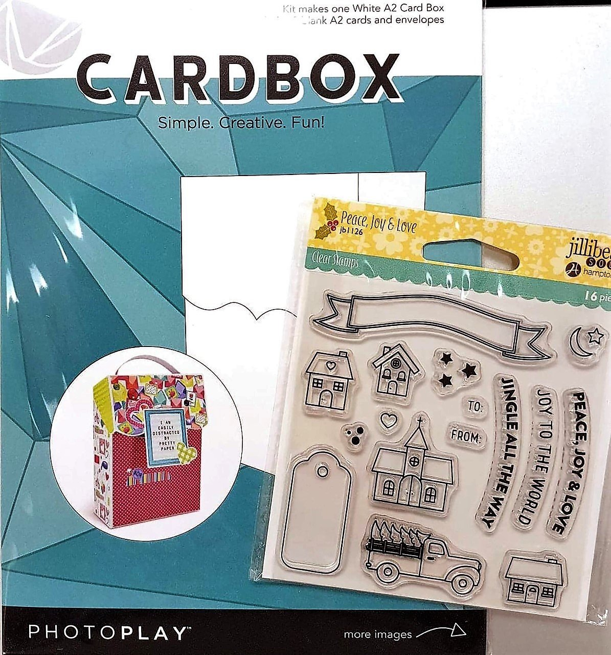 Card Box Kit - Holiday Card Box & Stamp (PP)