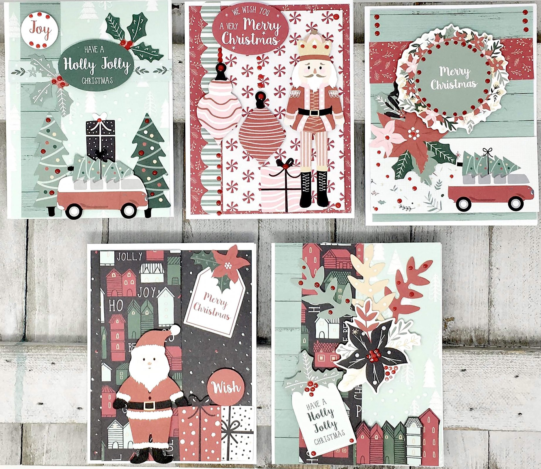 Card Kit - Santa's Christmas Village (KC)
