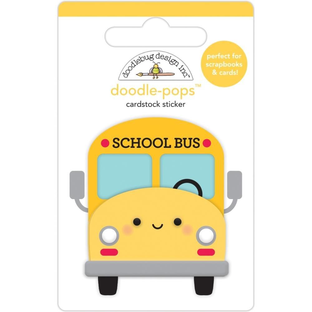 Stickers - School Bus, Doodlepops 3D (DB)