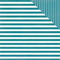 Dots & Stripes - Coastal Crush Stripe - 12x12 Double-Sided Paper (Echo Park)
