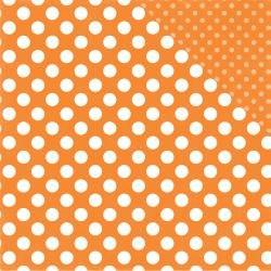 Dots & Stripes - Tangerine Tango Dot - 12x12 Double-Sided Paper (Echo Park)