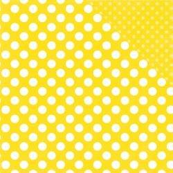 Dots & Stripes - Lemon Passion Dot - 12x12 Double-Sided Paper (Echo Park)